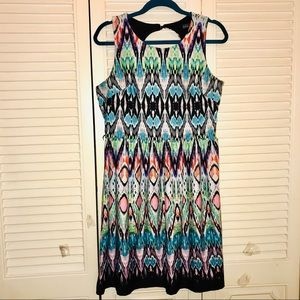 2/30 EUC Colorful Dress with Keyhole Back